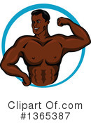 Bodybuilder Clipart #1365387 by Vector Tradition SM