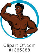Bodybuilder Clipart #1365388 by Vector Tradition SM