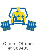 Bodybuilder Clipart #1389433 by patrimonio