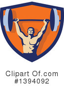 Bodybuilder Clipart #1394092 by patrimonio