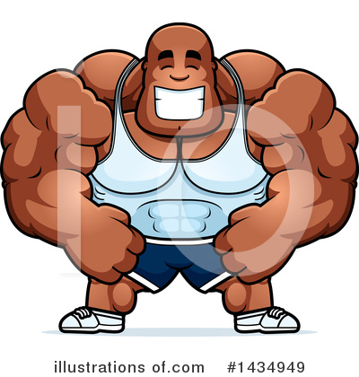 Royalty-Free (RF) Bodybuilder Clipart Illustration by Cory Thoman - Stock Sample #1434949
