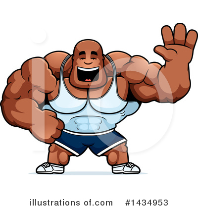 Bodybuilder Clipart #1434953 by Cory Thoman