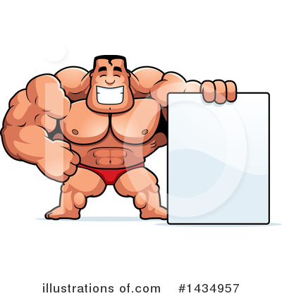 Bodybuilder Clipart #1434957 by Cory Thoman