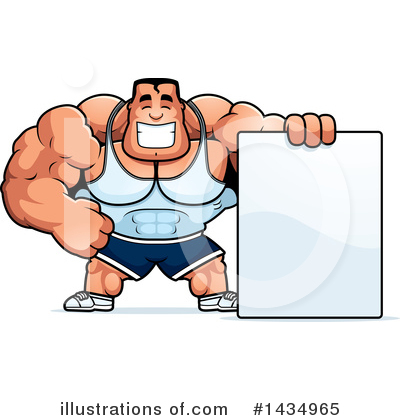 Bodybuilder Clipart #1434965 by Cory Thoman
