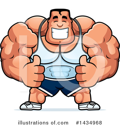 Royalty-Free (RF) Bodybuilder Clipart Illustration by Cory Thoman - Stock Sample #1434968