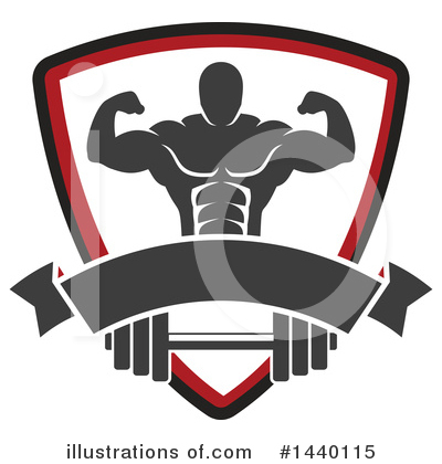 Bodybuilder Clipart #1440115 by Vector Tradition SM