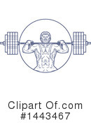 Bodybuilder Clipart #1443467 by patrimonio