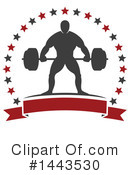 Bodybuilder Clipart #1443530 by Vector Tradition SM