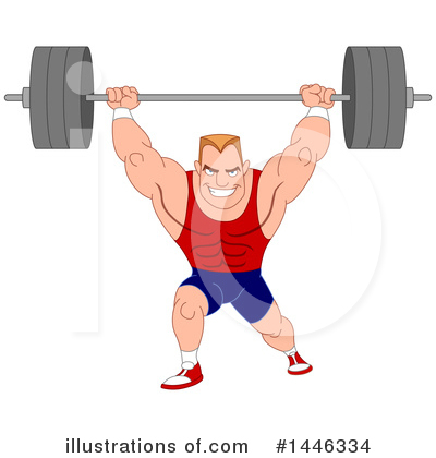 Weight Lifting Clipart #1446334 by yayayoyo