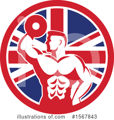 Royalty-Free (RF) Bodybuilder Clipart Illustration by patrimonio - Stock Sample #1567843