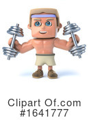 Bodybuilder Clipart #1641777 by Steve Young