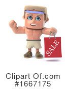 Bodybuilder Clipart #1667175 by Steve Young
