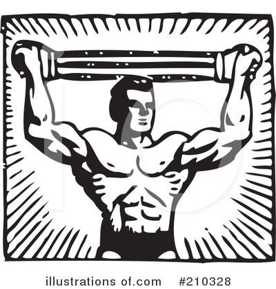 Bodybuilder clipart illustration by bestvector stock sle 210328