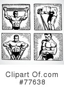 Royalty-Free (RF) Bodybuilder Clipart Illustration #77638