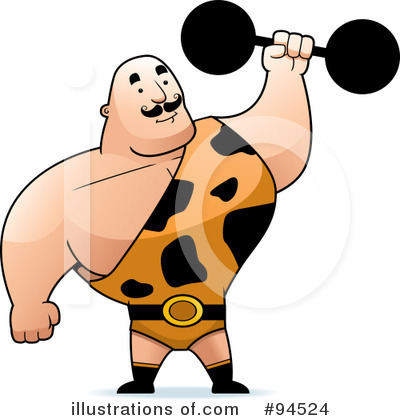 Bodybuilder Clipart #94524 by Cory Thoman