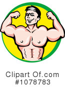 Royalty-Free (RF) Bodybuilding Clipart Illustration #1078783