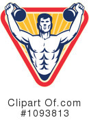 Royalty-Free (RF) Bodybuilding Clipart Illustration #1093813