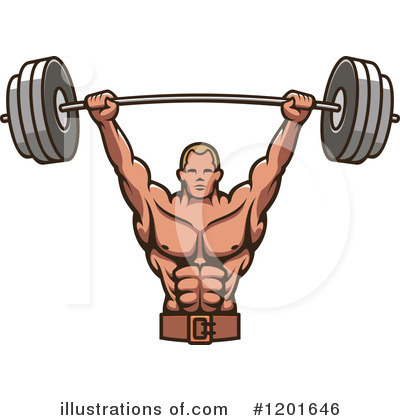 Bodybuilder Clipart #1201646 by Vector Tradition SM