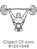 Bodybuilding Clipart #1201648 by Vector Tradition SM