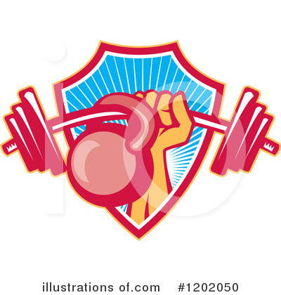Kettlebells Clipart #1202050 by patrimonio