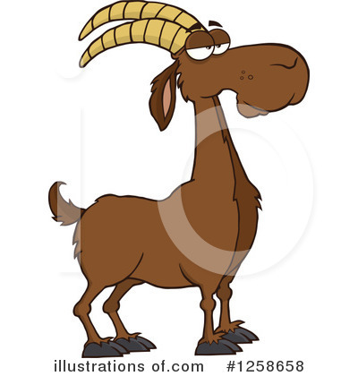 Boer Goat Clipart #1258658 by Hit Toon
