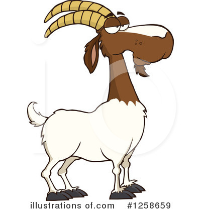 Boer Goat Clipart #1258659 by Hit Toon