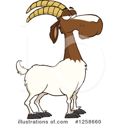 Boer Goat Clipart #1258660 by Hit Toon