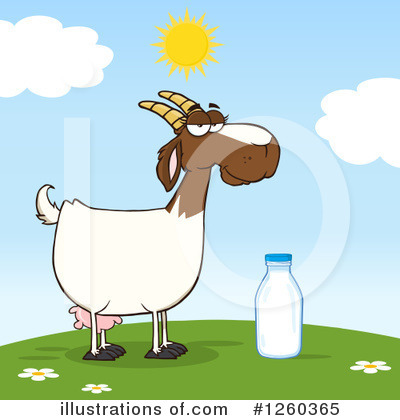 Boer Goat Clipart #1260365 by Hit Toon