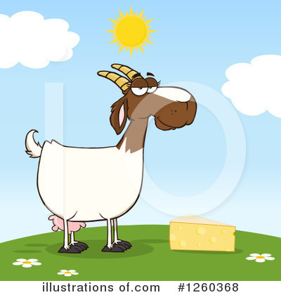 Boer Goat Clipart #1260368 by Hit Toon