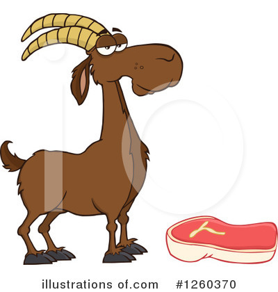 Boer Goat Clipart #1260370 by Hit Toon