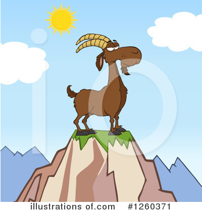 Boer Goat Clipart #1260371 by Hit Toon
