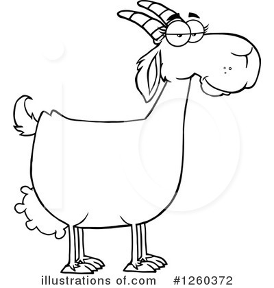 Boer Goat Clipart #1260372 by Hit Toon