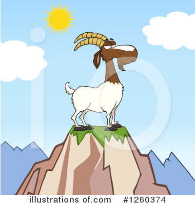 Boer Goat Clipart #1260374 by Hit Toon