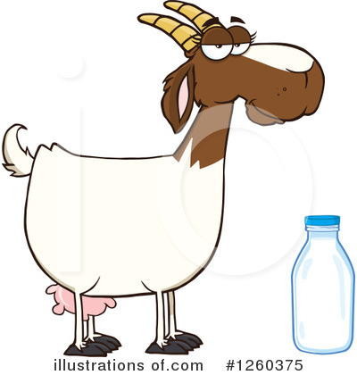 Boer Goat Clipart #1260375 by Hit Toon