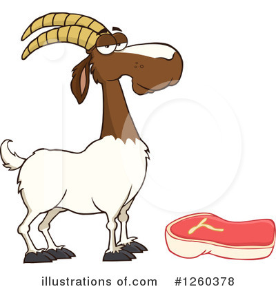 Boer Goat Clipart #1260378 by Hit Toon