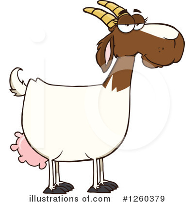 Boer Goat Clipart #1260379 by Hit Toon