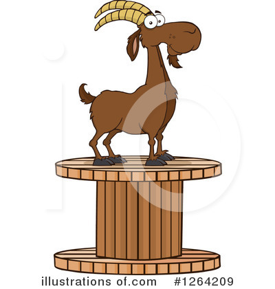 Boer Goat Clipart #1264209 by Hit Toon