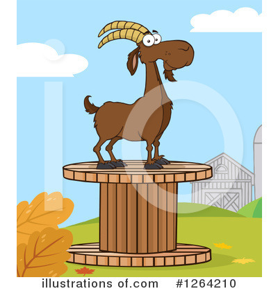 Boer Goat Clipart #1264210 by Hit Toon