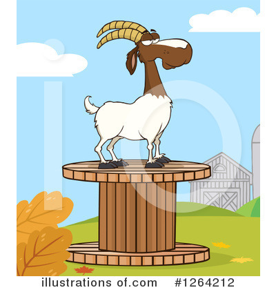 Boer Goat Clipart #1264212 by Hit Toon