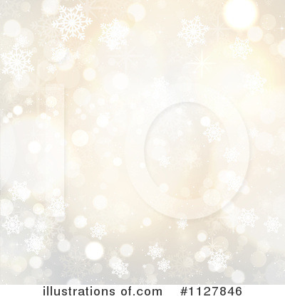 Snowflake Background Clipart #1127846 by KJ Pargeter