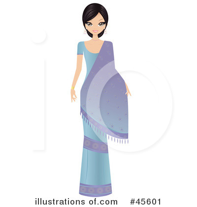 Royalty-Free (RF) Bollywood Woman Clipart Illustration by Melisende Vector - Stock Sample #45601