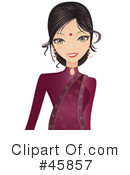 Royalty-Free (RF) Bollywood Woman Clipart Illustration #45857