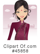 Royalty-Free (RF) Bollywood Woman Clipart Illustration #45858