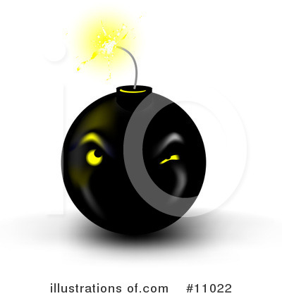 Royalty-Free (RF) Bomb Clipart Illustration by Leo Blanchette - Stock Sample ...