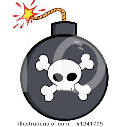 Royalty-Free (RF) Bomb Clipart Illustration by Hit Toon - Stock Sample #1241709