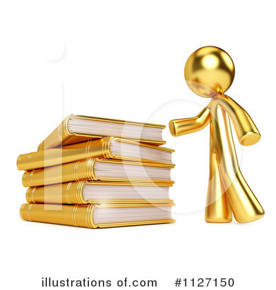 Book Clipart #1127150 by Leo Blanchette
