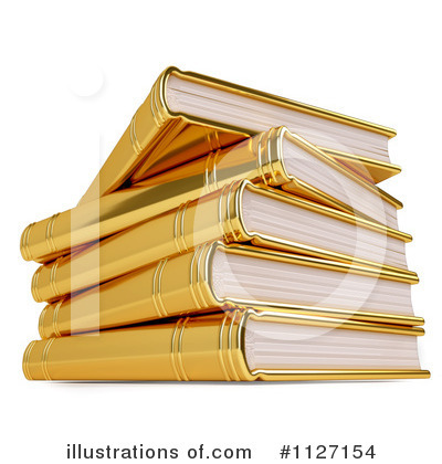 Book Clipart #1127154 by Leo Blanchette