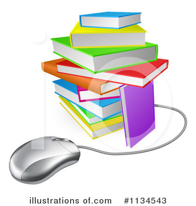 Reading Clipart #1134543 by AtStockIllustration