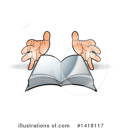 Book Clipart #1418117 by Lal Perera