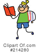 Royalty-Free (RF) Book Clipart Illustration #214280
